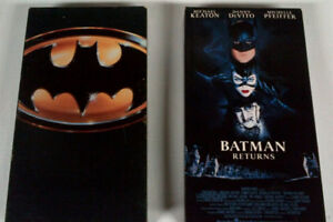 1st 4 Batman movies on VHS
