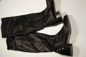 Italian leather knee high boots