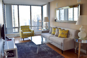 1802- Furnished One Bedroom + Den Apartment Downtown
