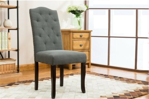 4pc Dining Room Dark Grey Dining Chairs Contemporary Home Furniture
