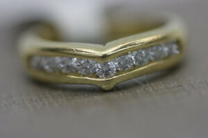 14K Yellow Gold Ladys Diamond Wedding Ring (#14456)