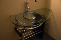 Beautiful Glass Bathroom Vanity