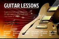 Guitar or bass lessons chez vous