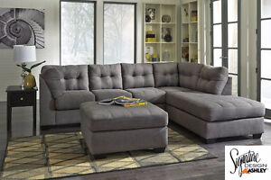 Brand NEW Maier Walnut Sectional ! Call 306-347-3311!