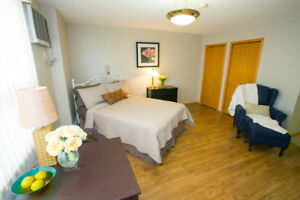 Private 55+ studio in Brooks includes utilities, meals, cleaning