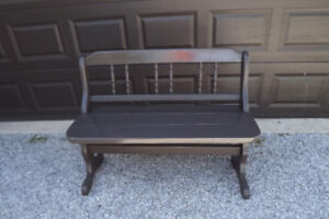 Solid wood outdoor patio bench or indoor also 2 SIDE  TABLES