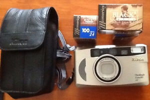 NIKON ONE TOUCH ZOOM 90 CAMERA with 3 films and case.