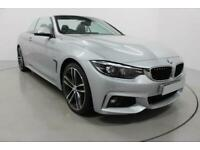 2018 SILVER BMW 430i CONVERTIBLE 2.0 M SPORT 2DR AUTO CAR FINANCE FR £354 PCM