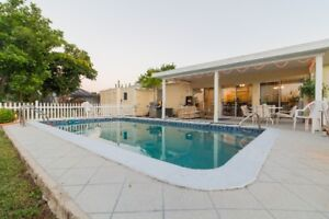Canal Pool House in Port Charlotte FLA