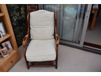 Cane 2 Seater Settee and Single Seat Chair.