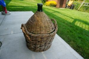 54 liter demijohn wicker lined