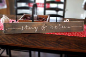 Rustic Sign - Stay & Relax