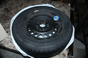 4 Gislaved winter tires on 5 bolt steel rims 5x110