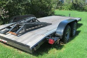Great deal on a never  used car hauler trailer 16ft