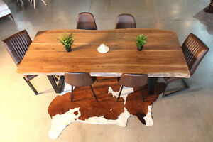 Wooden Table Suar Acacia Modern Rustic Live Edge