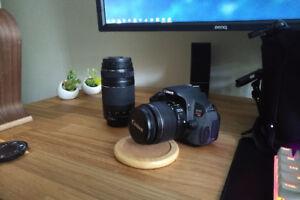 Canon t4i + 2 Lenses + Bag