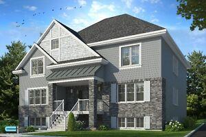 5 1/2 sur deux étages/ Construction Neuve/ Style Maison de Ville