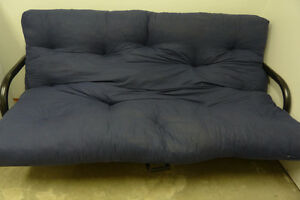 Futon which can fold into bed