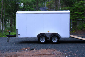 2017 6x12 Tandem Axle Enclosed Trailer Ramp Door and Side Door