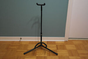 Guitar stand and music sheet stand