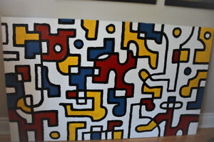 Peinture moderne abstraite / Large modern abstract painting