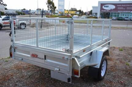 7x5 Galv Trailer. Brand New + cage. Tipper style & 12m Rego. PMX