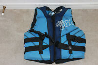 "Life jacket ""Body Glove Wet-suite/jacket"" brand name."