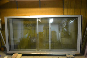 4'x8' glass exterior doors with aluminum frame Kitchener / Waterloo Kitchener Area image 1