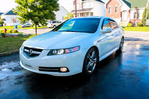 White/Blanche 2008 Acura TL Type-S Sedan 6speed Manual/Manuel