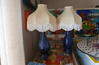 retro ceramic table lamps with silk shades