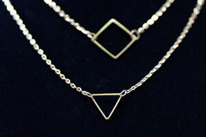 NEW Triangle & Square Necklace