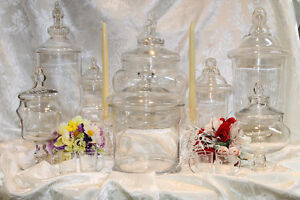Stunning Glassware with lids