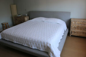 KING size bed from WEST ELM with mattress