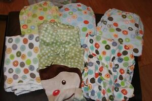 Bassinet Sheets and One Fabric/Vinyl change pad