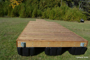 8 x 16 pressure treated floating dock with 4 x 16 ramp Kingston Kingston Area image 4