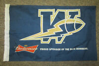 small blue bombers flag from budweiser