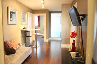 Furnished 3 + Den suite on Robson Street Available now