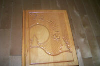 HAND CARVED WOODEN KEEPSAKE MEMORY BOX, new, never used
