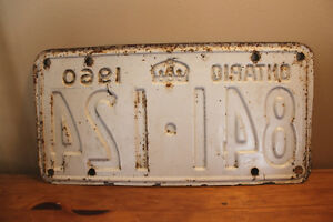 Old Ontario License Plate - 1960 London Ontario image 2