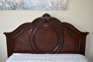 Three Piece Cherry Wood Bedroom Set - Like New Condition