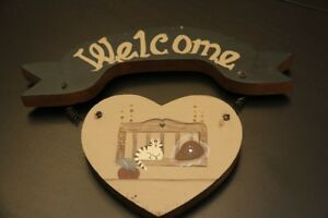 Painted Heart Welcome Sign