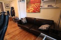 Selling Dark Brown Leather Couch