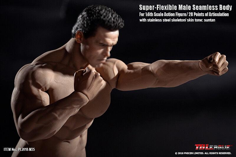 1//6 PHICEN PL2018-M36 A Seamless SUNTAN Male Muscular Figure Body