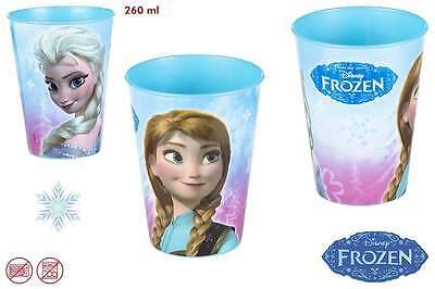 FROZEN Disney 2 Stück Trinkbecher Becher Kunststoffbecher 260 ml Anna Elsa neu