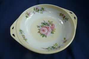 NIPPON hand painted candy dish with cut-out handles