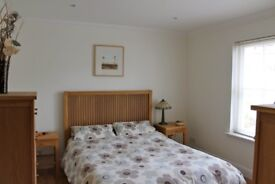 King size oak bed frame and matching furniture