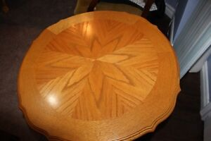 Wooden Round Coffee Table with 2 Matching End Tables Kawartha Lakes Peterborough Area image 2