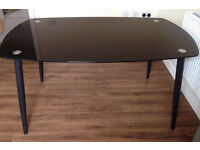 Dining Table - black glass