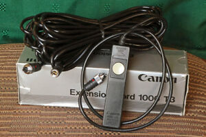 Canon Remote Switch 60 T3 with Canon Extension Cord 1000 T3