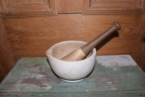 Old Antique Mortar and Pestle